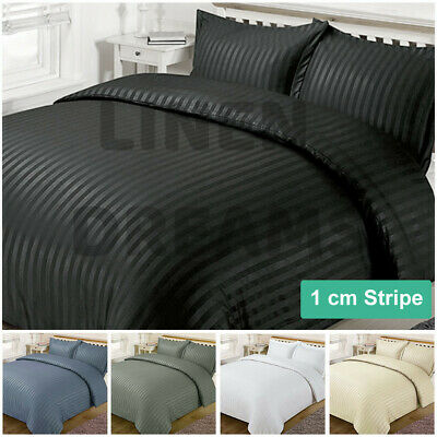 Striped 1000TC Luxury Duvet/Doona/Quilt Cover Set Double/Queen//Super King Bed