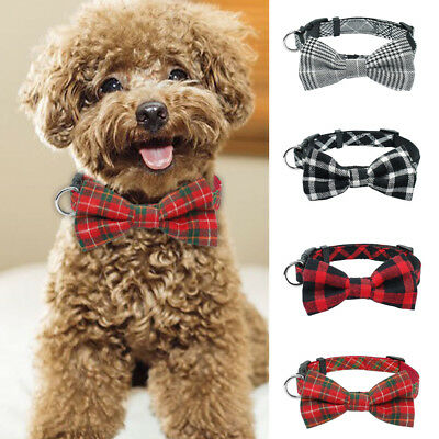 Small Dog Bow Tie Collar Soft Cotton For Pet Puppy Cat Dress Collar Necklace
