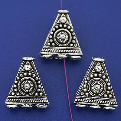 5pcs tibetan silver color 2sided pattern 1-3holes connector design H3299