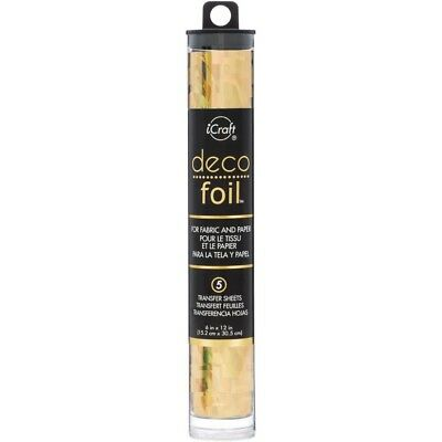 """Deco Foil Specialty Transfer Sheets 6""""X12"""" 5/Pkg - Gold Shattered Glass"""