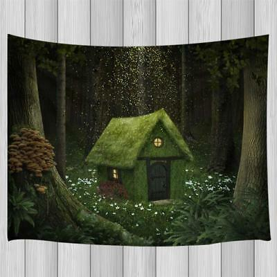 Magic Tree House Tapestry, Fantasy Home at Enchanted Woodland for Home Decor