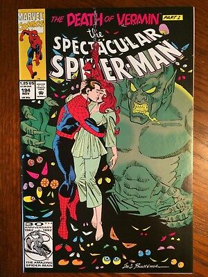 The Spectacular Spider-Man - The Death of Vermin #194 1992 VF+ 8.5