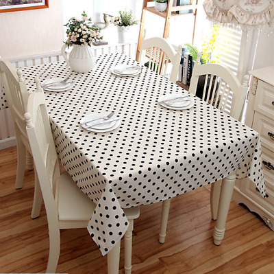 Rectangle & Round Plastic Disposable Table Cloth Covers Cover Party New Years