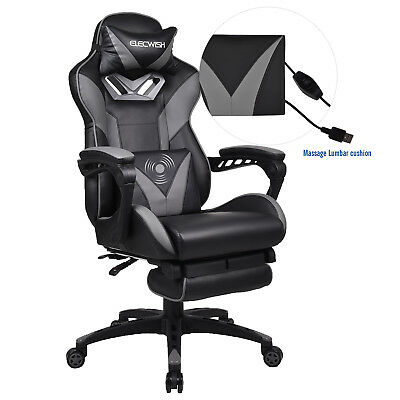 Ergonomic Office Gaming Racing Chair High Back Massage Computer Desk Footrest