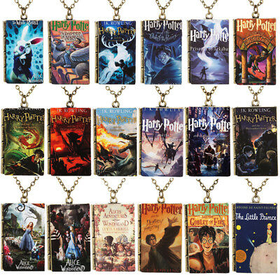 Harry Potter Printing Jewelry Book Necklace Pendent Accessories Gifts Toys AU