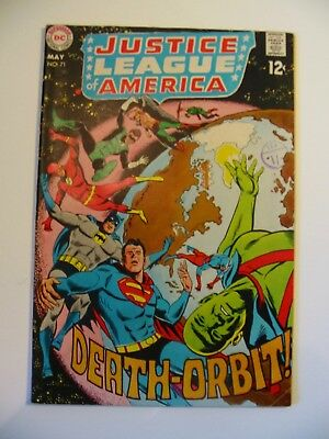 Justice League of America Death Orbit No 71 May 1969 Comic Used