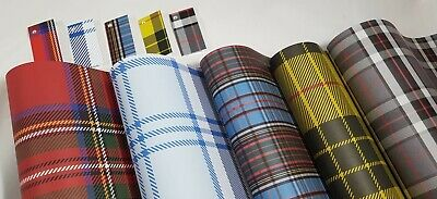 10 Sheets of Tartan, Plaid Wrapping Paper & 5 Gift Tags Anderson Stewart Macleod