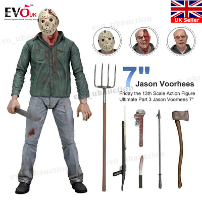 """NECA Friday the 13th Scale Action Figure Ultimate Part 3 Jason Voorhees 7"""""""