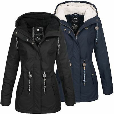 Ragwear Damen Winter Regenjacke Parka Monadis Rainy
