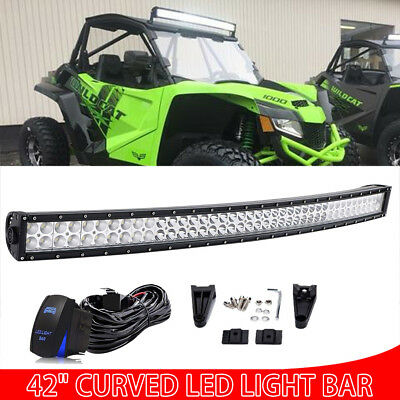 42Inch 560W CREE Curved Led Light Bar Spot Flood Offroad Driving Fog Lamp 40