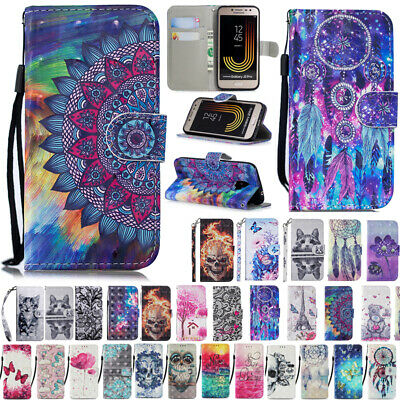 Magnet Wallet Flip Leather Card Slots Case Cover For Samsung Galaxy J2 Pro 2018