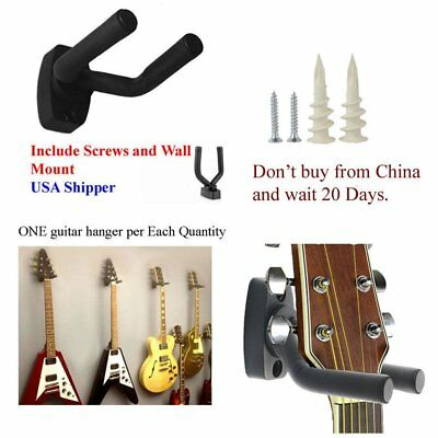 Guitar Hanger Stand Holder Wall Mount Display Acoustic Electric Guitar T4