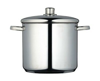 MasterClass Induction-Safe Stainless Steel Stock Pot with Lid, 8.5 Litre