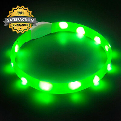 LaRoo LED Dog Safety Collar, Udapted Flashing Collar Rechargeable Light Up...