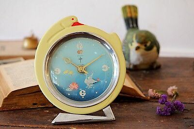 Swan Clock Rare Kids Mechanical Large Chinese Vintage Wind Up Alarm Desk Clock