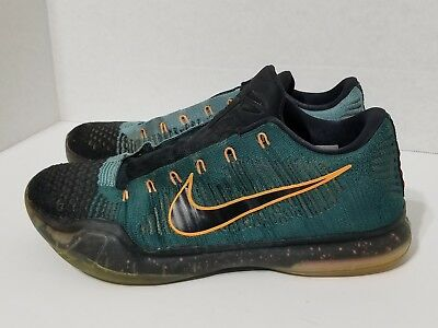 size 40 5734c 8c3a4 Nike Kobe X 10 Elite Low Drill Sergeant Teal Green Shoes (Size 10) 747212