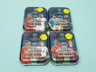 Topps Match Attax Champions League 2018/2019 4 x  Mini Tin Box Limited Edition