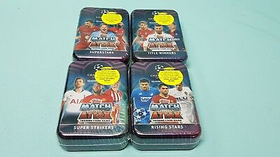 Topps Match Attax Champions League 2018/2019 4 x Tin Box Limited Edition