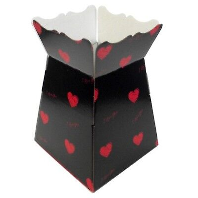 I Love You - Black / Red - Living Vases Florist Bouquet Box Flower Sweet Boxes