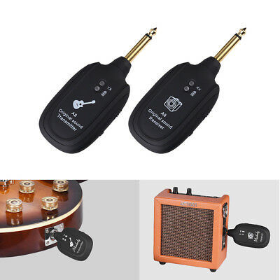 UHF Guitar Wireless System Transmitter Receiver Max.50M Rechargeable Black J7F2
