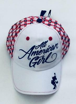 039621e21115e BNWT Disney Parks All American Americana Girl Youth Hat Cap Red, White and  Blue