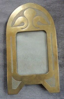 Arts And Crafts Large Signed Brass Picture Frame  Ww1 Era