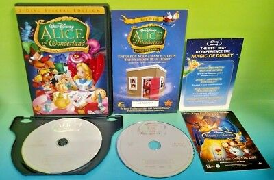 Alice in Wonderland (DVD, 2010, 2-Disc Set, Un-Anniversary Special Edition) Rare
