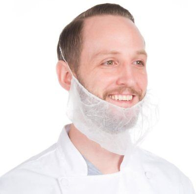 100 Supertouch Disposable Non Woven Beard Snood Masks Food Hygiene Catering