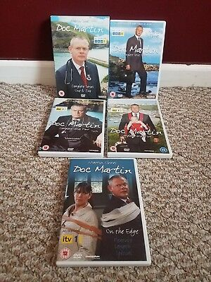 Doc Martin DVD lot Series 1, 2, 3, 4, 5 + On the Edge special Region 2 PAL