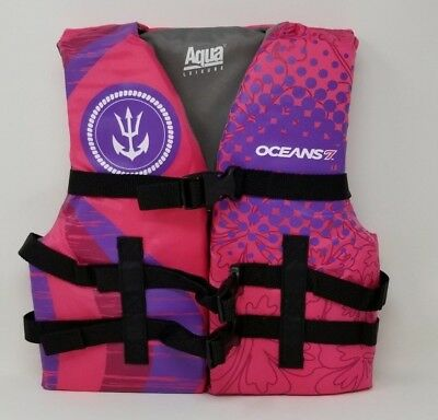 Oceans7 US Coast Guard Approved, Youth Life Jacket, Type III Vest, 50-90 pounds