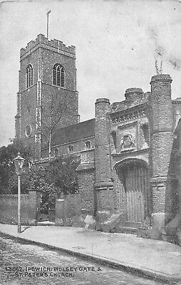 Cp Ipswich Wolsey Gate S' Pter's Church