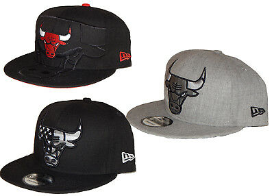 New Era Chicago Bulls NBA 9Fifty Cap   Hat NEW Snapback Flatbill 3 Styles  Men s 0e3f351c48f1