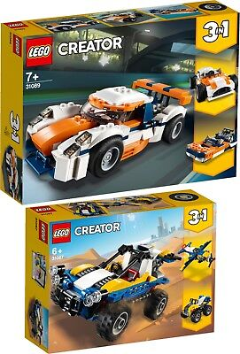 LEGO Creator 31089 31087 3 in 1 SETS Rennwagen Strandbuggy N1/19
