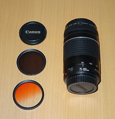 Canon EF 75-300mm F/4.0-5.6 III EF Lens + 2 filters
