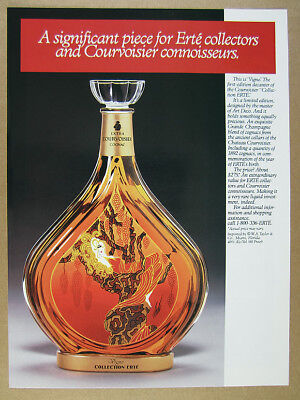 1988 Courvoisier Collection ERTE Vigne decanter photo vintage print Ad