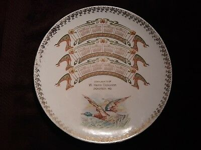 1911 Calendar Plate Dickerson Maryland Duck Hunting Decoy Shell Box
