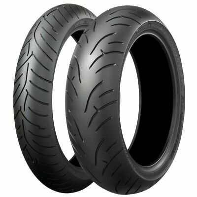 Bridgestone Battlax BT023 120/70/ZR17 180/55/ZR17 Motorcycle Tyres Pair Honda