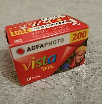 5 Rolls of AgfaPhoto Vista Plus ISO 200 24 Exp 35mm Colour Print Film - 12/2018