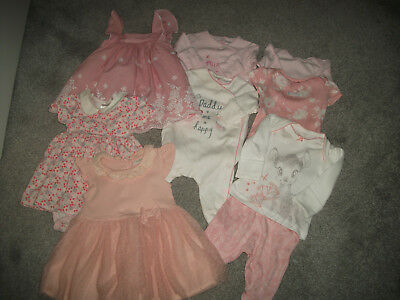 new born small mixed baby girls bundle george next H&M