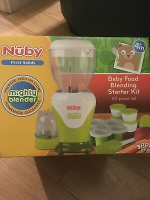 BNIB - Nuby 'Mighty Blender' - baby weaning blender - 20 piece set included