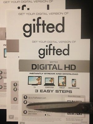 Gifted (HD Digital Code Only) Canada redemption only!