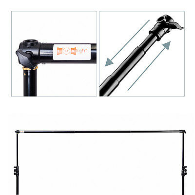 Luxlight® Backdrop Support Crossbar | Telescopic Pole Photo & Video Background