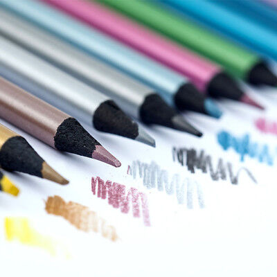 12 Colors Metallic Color Drawing Pencil 12 Assorted Colors Sketching Art Pencils