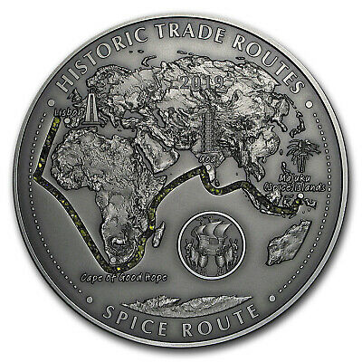 2019 Rep. of Cameroon 5 oz Silver Historic Trade Routes (Spice) - SKU#182764