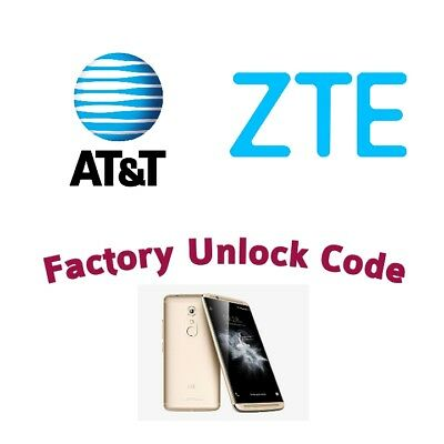 Unlock Network Service PIN Code For ALL at&t ZTE phones