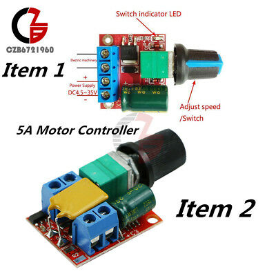 5A Motor PWM Speed Controller DC 3-35V/4.5-35V Speed Control Switch LED Dimmer