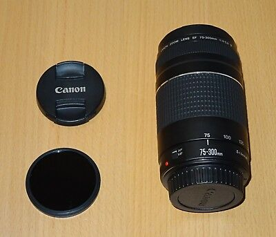 Canon EF 75-300mm F/4.0-5.6 III EF Lens + ND8 CPL filters
