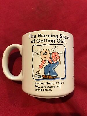 """The warning signs of getting old"" Novelty Mug Cup - RUSS"