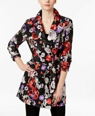 d28629a22f7 INC. International Concepts ~ Embroidered Floral Trench Coat ~ NWT  239 Size  M
