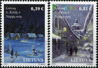 Lithuania. 2016. Holly Christmas and New Year (MNH OG) Set of 2 stamps